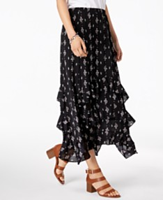 7fcf9e06c Style & Co Printed Tiered-Ruffle Maxi Skirt, Created for Macy's