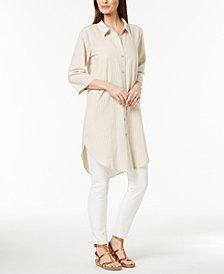 Eileen Fisher Hemp Blend Striped Tunic, Regular & Petite