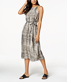 Eileen Fisher Silk Halter Midi Dress
