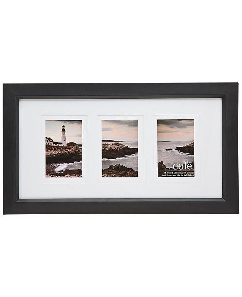 Godinger Philip Whitney Triple-Opening Black Wood Frame - Picture ...