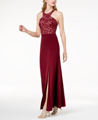 Burlington Red Lace Prom Dress