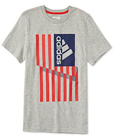 adidas Graphic-Print Cotton T-Shirt, Big Boys