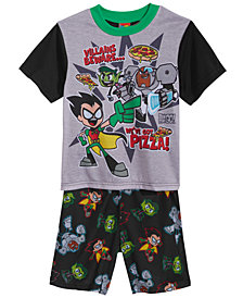 Teen Titans 2-Pc. Graphic-Print Pajama Set, Little & Big Boys