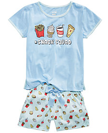 Max & Olivia 2-Pc. French Fries Pajama Set, Little Girls & Big Girls