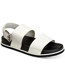 Calvin Klein Men's Magnum Smooth Tumbled Leather Sandals
