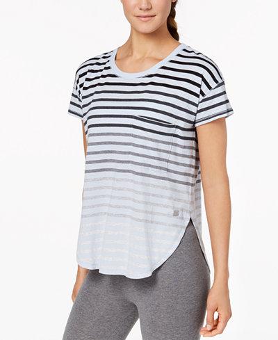 Calvin Klein Performance Striped Split-Hem T-Shirt