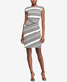 Lauren Ralph Lauren Striped Stretch Dress