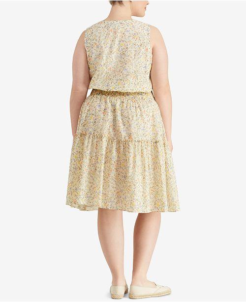 71d8869ad6 Lauren Ralph Lauren. Plus Size Floral-Print Dress