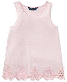 Polo Ralph Lauren Lace-Trim Tank Top, Big Girls