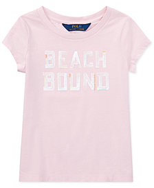 Polo Ralph Lauren Beach Bound Cotton Jersey Graphic T-Shirt, Little Girls