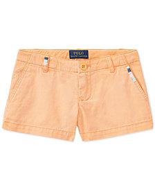 Polo Ralph Lauren Cotton Chino Shorts, Little Girls
