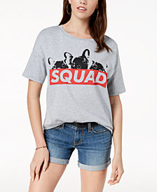 Pretty Rebellious Juniors' Squad Dog Graphic T-Shirt