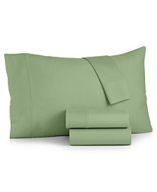Bari 4-Pc. Solid Queen Sheet Set, 350 Thread Count Cotton Blend