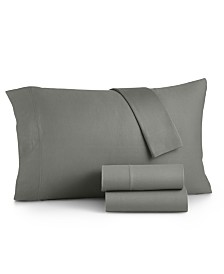 Martha Stewart Essentials Jersey 4-Pc. California King Sheet Set, Created for Macy's