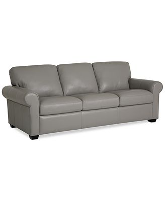 Furniture Orid 82 Leather Sofa Created For Macy S Furniture Macy S