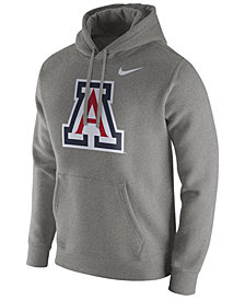 Nike Men's Arizona Wildcats Cotton Club Fleece Hooded Sweatshirt