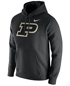 Nike Men's Purdue Boilermakers Cotton Club Fleece Hooded Sweatshirt