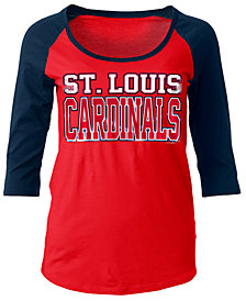 5th & Ocean Women's St. Louis Cardinals Plus Raglan T-shirt