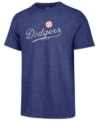 '47 Brand Men's Los Angeles Dodgers Coop Triblend Match T-Shirt