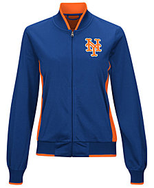 G-III Sports Women's New York Mets Triple Track Jacket