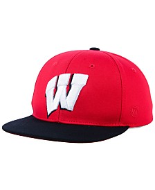 Top of the World Boys' Wisconsin Badgers Maverick Snapback Cap