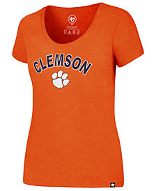 '47 Brand Women's Clemson Tigers Logo Club Scoop T-Shirt