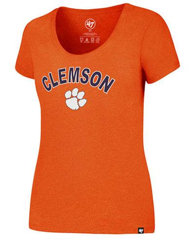 '47 Brand Women's Clemson Tigers Logo Club Scoop T-Shirt