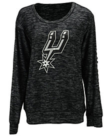 5th & Ocean Women's San Antonio Spurs Space Dye Crew Pullover