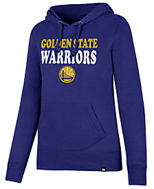 '47 Brand Women's Golden State Warriors Wordmark Headline Hoodie