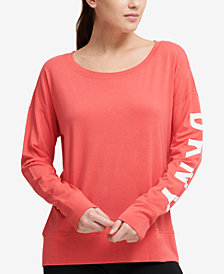 DKNY Sport Logo Long-Sleeve T-Shirt