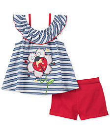 Kids Headquarters 2-Pc. Ladybug Top & Shorts Set, Toddler Girls