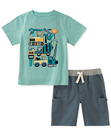 Kids Headquarters 2-Pc. Graphic-Print T-Shirt & Shorts Set, Little Boys