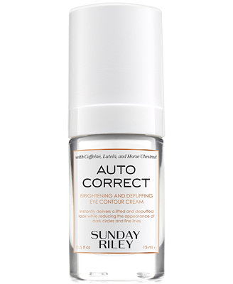 Auto Correct Brightening & Depuffing Eye Contour Cream, 0.5 Fl. Oz. by Sunday Riley