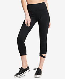 DKNY Sport High-Waist Cutout Cropped Leggings