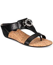 Impo Guevera Slip-On Thong Wedge Sandals