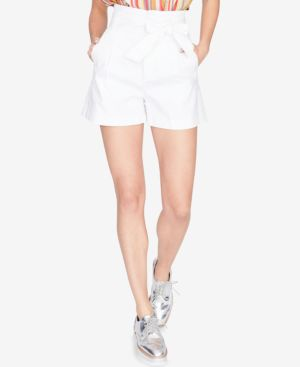 PLEATED TIE-FRONT SHORTS, CREATED FOR MACY'S
