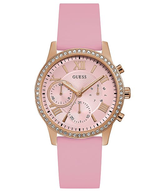 f1303ed92dbf GUESS Women s Pink Silicone Strap Watch 40mm  GUESS Women s Pink Silicone  Strap Watch ...