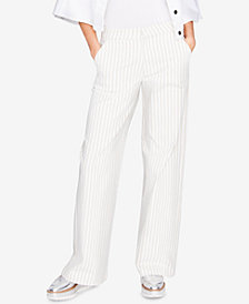 RACHEL Rachel Roy Cotton Wide-Leg Trousers, Created for Macy's
