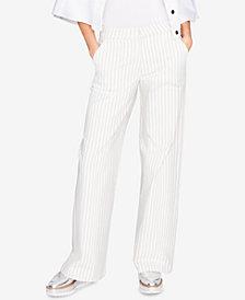 RACHEL Rachel Roy Cotton Wide-Leg Trousers, Created for Macy's