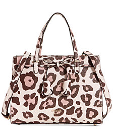 GUESS Leila Animal Small Girlfriend Satchel