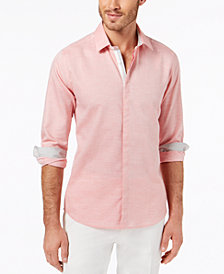 Ryan Seacrest Distinction™ Men's Slim-Fit Heathered Sport Shirt, Created for Macy's