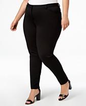 c28b5947b507f4 Calvin Klein Plus Size Ponté Skinny Compression Pants