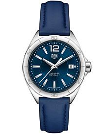 Women's Swiss Formula 1 Blue Leather Strap Watch 35mm