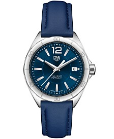 TAG Heuer Women's Swiss Formula 1 Blue Leather Strap Watch 35mm