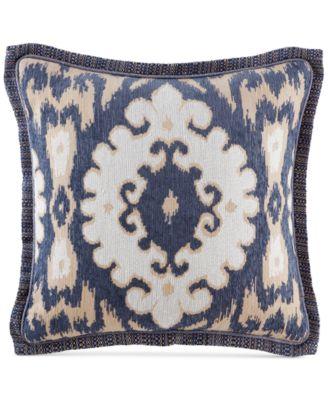 "Kayden 18"" Square Medallion Jacquard Decorative Pillow"