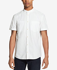 DKNY Men's Banded Collar Woven Shirt