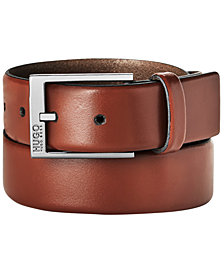 Hugo Boss Men's Garney Plaque-Buckle Dress Belt