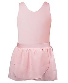Bow Back Leotard & Wrap Skirt Separates, Toddler, Little & Big Girls