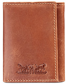 Levi's® Men's Embossed RFID Leather Tri-Fold Wallet
