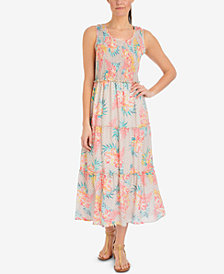 NY Collection Printed Tiered Dress